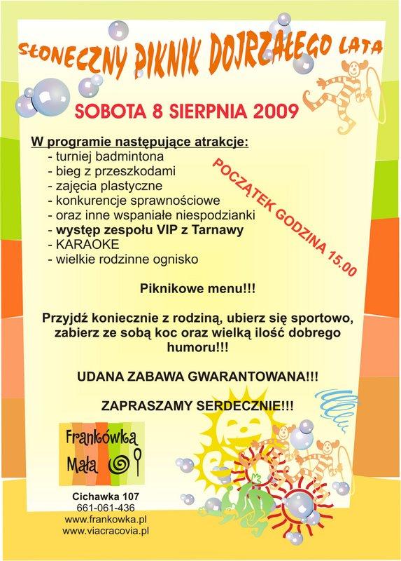 I Słoneczny Piknik Dojrzałego Lata 2009-001