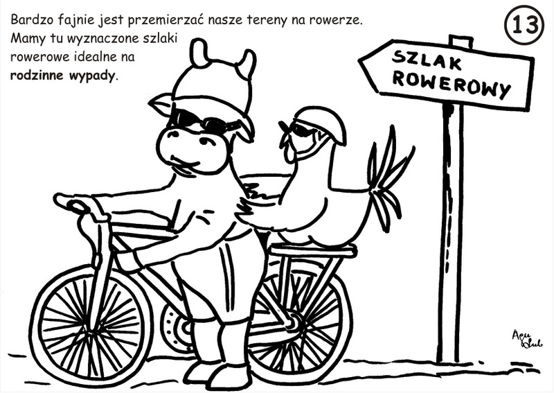 13. Szlaki rowerowe - kolorowanka