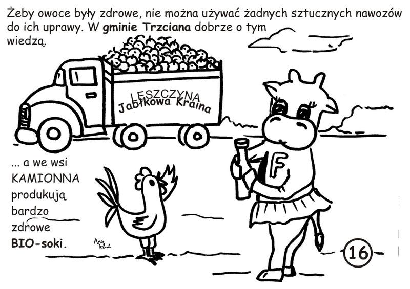 16. Leszczyna-jabłkowa kraina - kolorowanka
