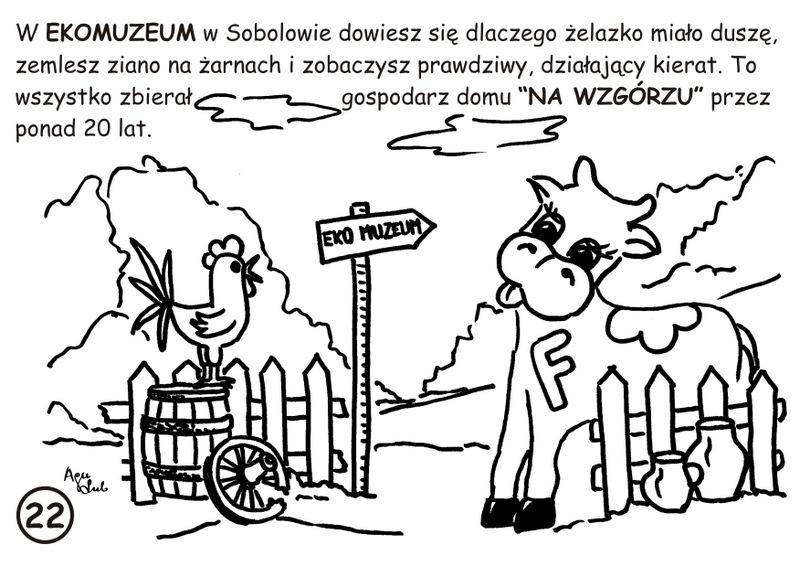 22-22. EKOmuzeum w Sobolowie - kolorowanka