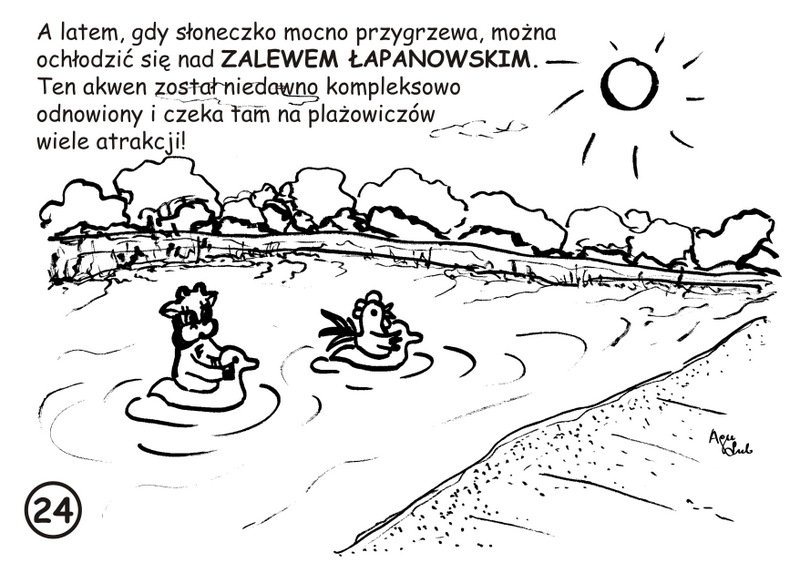 24. Zalew Łapanowski - kolorowanka