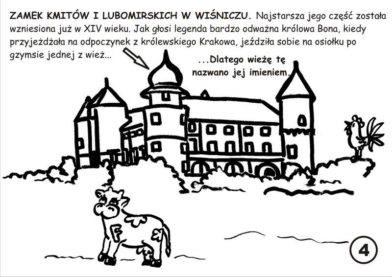 5. Zamek w Wiśniczu - kolorowanka
