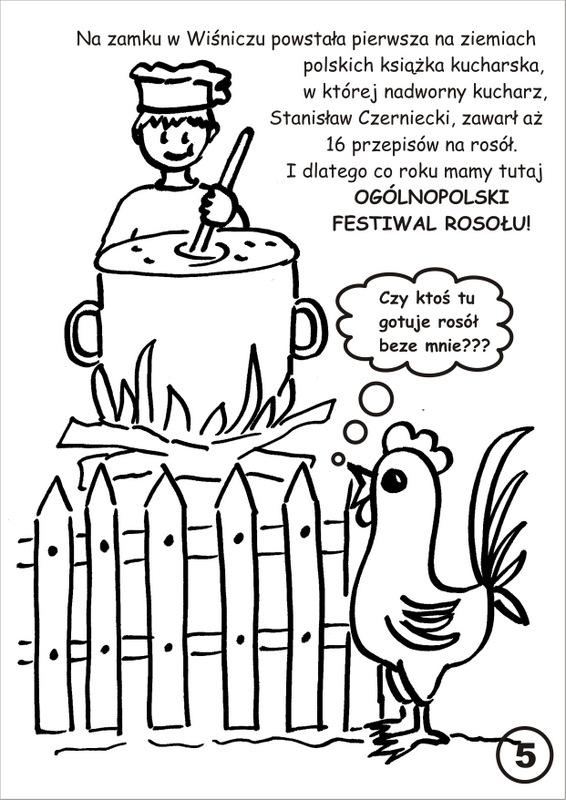 6. Festiwal Rosołu - kolorowanka