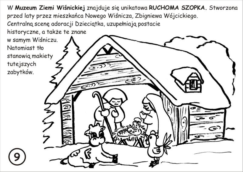 9. Ruchoma Szopka - kolorowanka