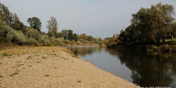 Gdów. Nad rzeką Rabą.
