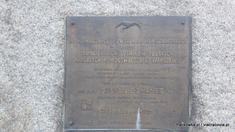 Pomnik poległych pilotów niosących pomoc Powstańcom Warszawskim